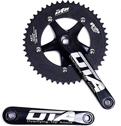 FIXED GEAR TRACK BIKE CRANKS CRANKSET 170MM 170 SILVER FIXIE SINGLE SPEED