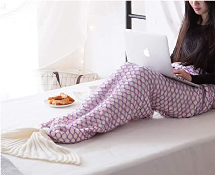 Mermaid Tail Blanket Manta De Sirena Hilo De Cola De Sirena De Ganchillo Hecho A Mano