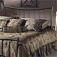 Hawthorne Collections Full Queen Metal Spindle Headboard in Pewter