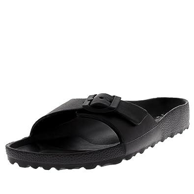 228f3e1962d3 Womens EVA Slides Beach Lightweight Summer Open Toe Single Strap Sandals -  Black - UK3