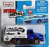 Maisto Fresh Metal Die-Cast Vehicles ~ Maisto Milk Truck (Blue and White)