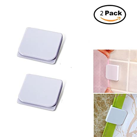 Windproof Stop Protect Clips, Shower Splash Guard Curtain Clip, Self  Adhesive Shower Curtain Clips