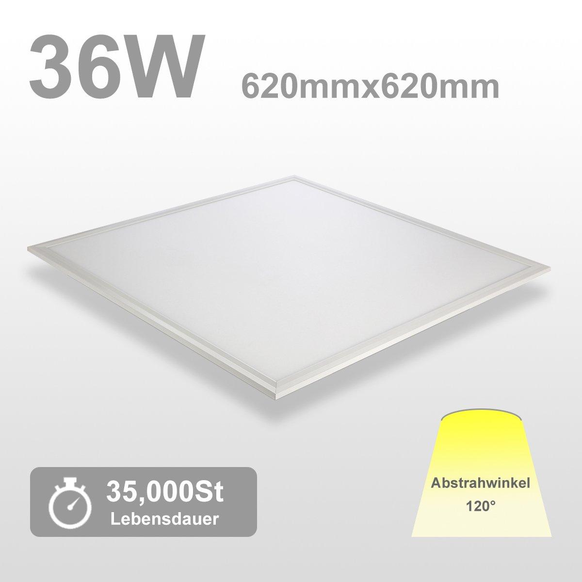 OUBO LED Panel 120x30 Deckenleuchte Neutralweiß 40W, 3200lm, 4000K Wandleuchte dünn Ultraslim Weißrahmen [Energieklasse A+]