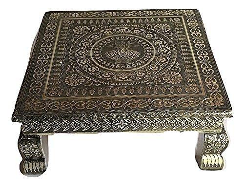 Movie Time Vdieo Antique Silver Premium Quality Puja Bagot /Table/Chowki - 18