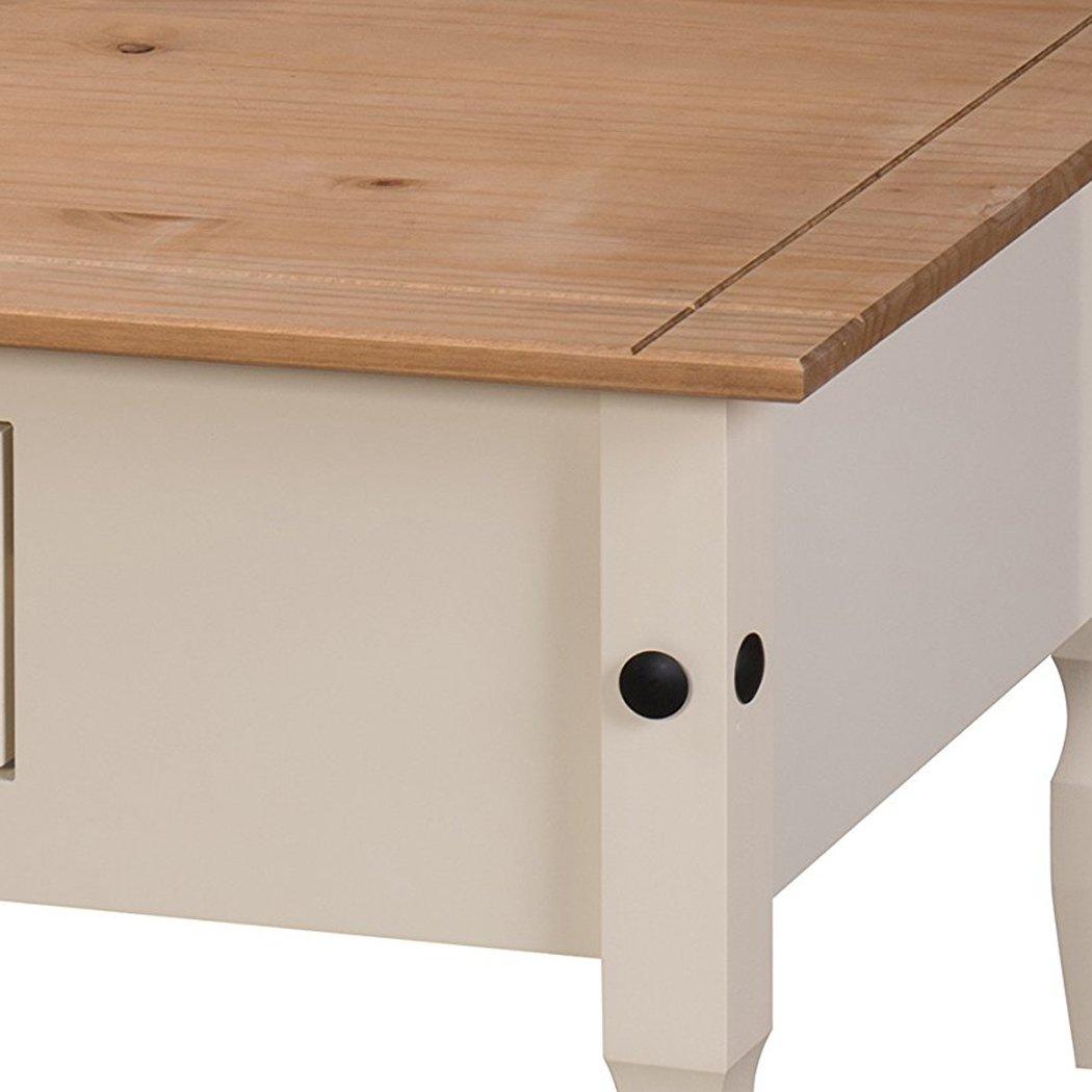 Mercers Furniture Corona Couchtisch Holz Cream Antique Wax 100