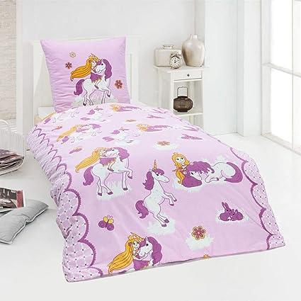 Dreamhome 100 Baumwolle Fein Biber Bettwäsche Mädchen Einhorn