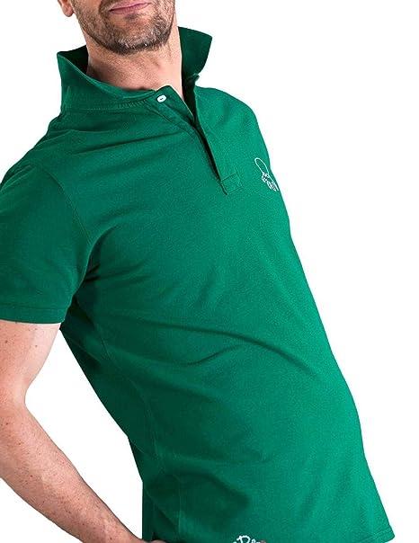 EL PULPO Polo Logo Grande Verde Hombre Small Verde: Amazon.es ...