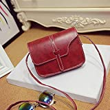 Fashion Women Handbag Shoulder Bag Leather Messenger Hobo Bag Satchel Purse Tote, Professional and exquisite craftsmanship, fashion appearance (Red)