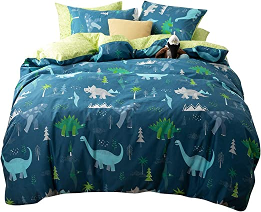 Dinosaur  Bedding Set for Kids Cartoon Bed Boys Duvet Cover Jurassic