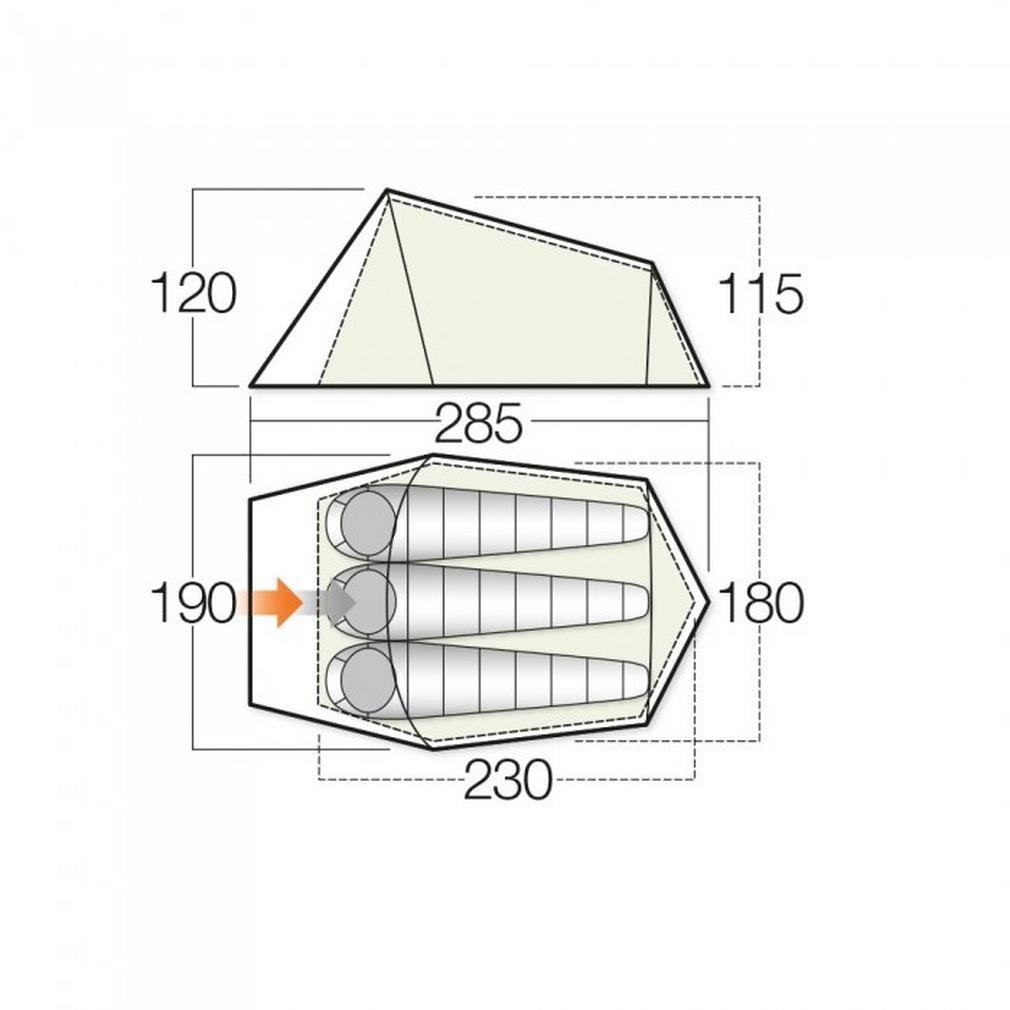 Vango Soul 300 Tent Apple Green 2018 Zelt