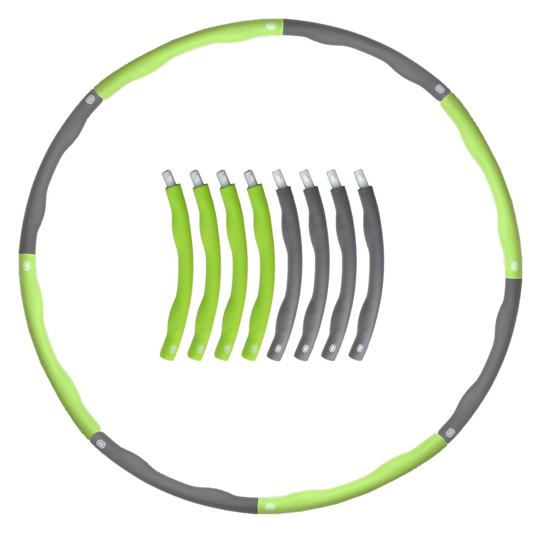 Shusoul ダイエット フラフープ 大人用 エクササイズ に 理想のくびれを 直径95㎝ 8本組