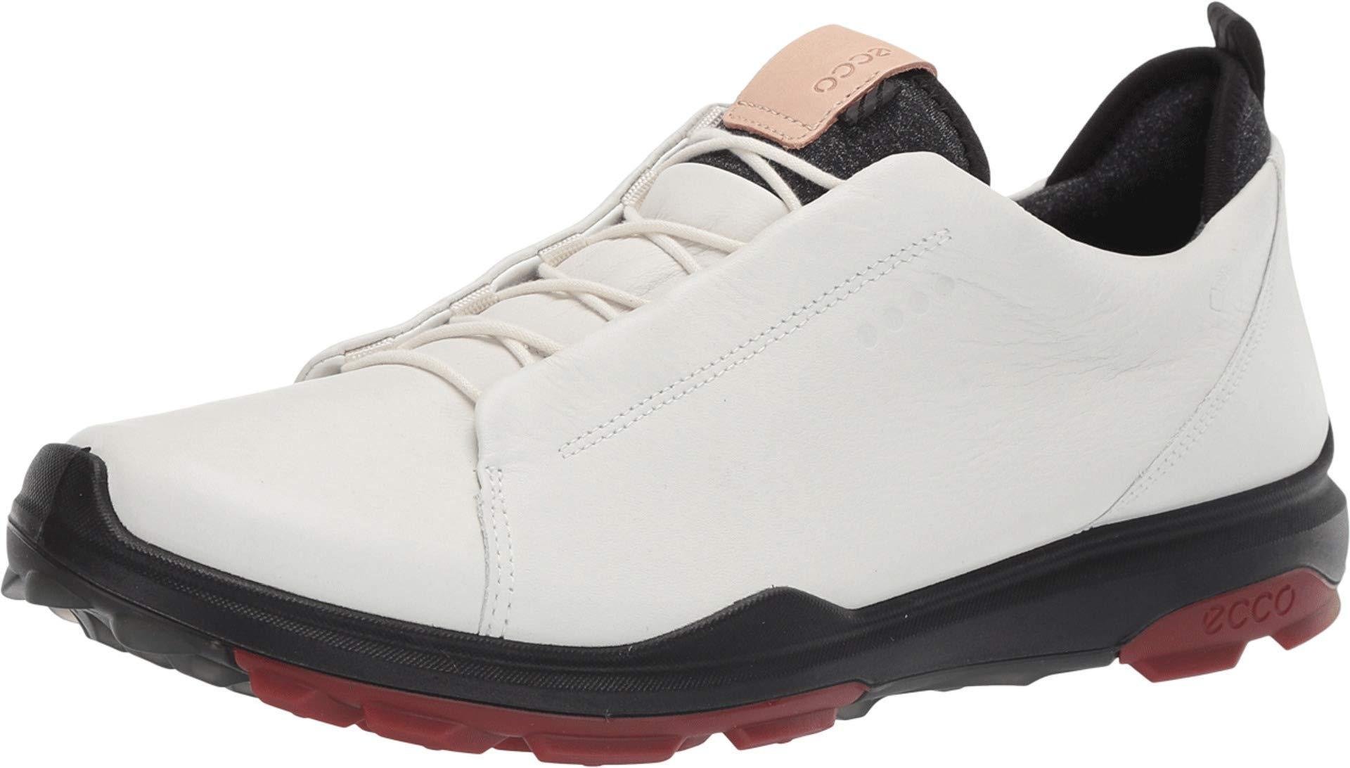 ECCO Men's Biom Hybrid 3 Gore-Tex Golf Shoe, White Open lace, 10 M US by ECCO