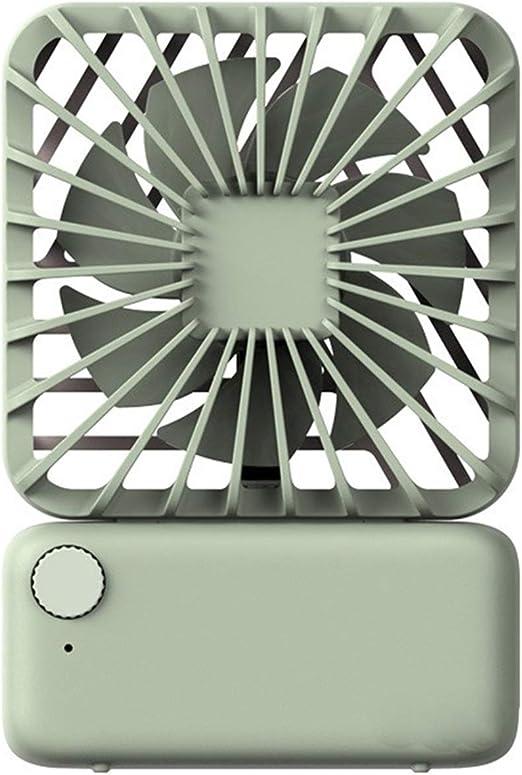 Abanico Mini ventilador cuadrado portátil Usb Ventilador eléctrico portátil de escritorio portátil Ventiladores de refrigeración al aire libre Mini ventilador de enfriamiento portátil (Color : 01) : Amazon.es: Hogar