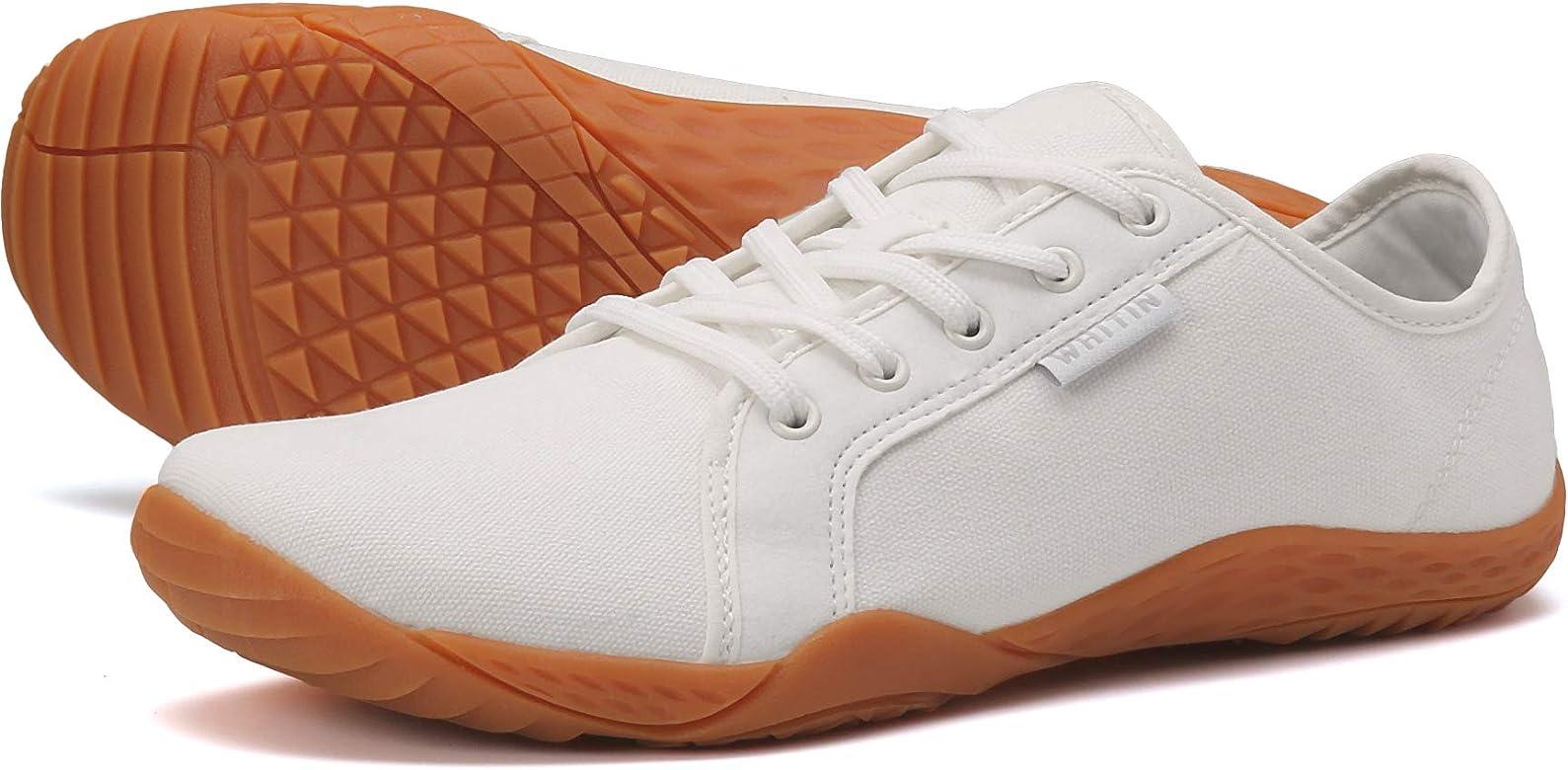 WHITIN Zapatos minimalistas unisex de punta ancha para correr descalzos, color Blanco, talla 41 EU: Amazon.es: Zapatos y complementos