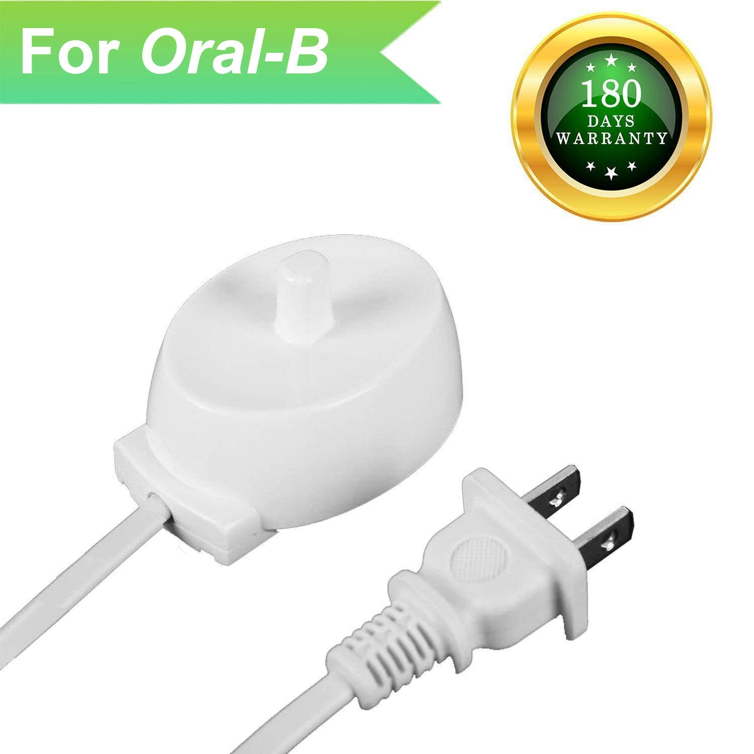 For Braun Oral B Electric Toothbrush Replacement Charger power cord supply Inductive Charging Base Model 3757 Portable Environmental ABS For Travel