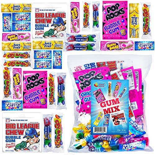 Chewing Gum - Gum Mix - Gum Mixed Pack - Mixed Flavor Gum - Bulk Candy - Approximately 30 Individual Packs