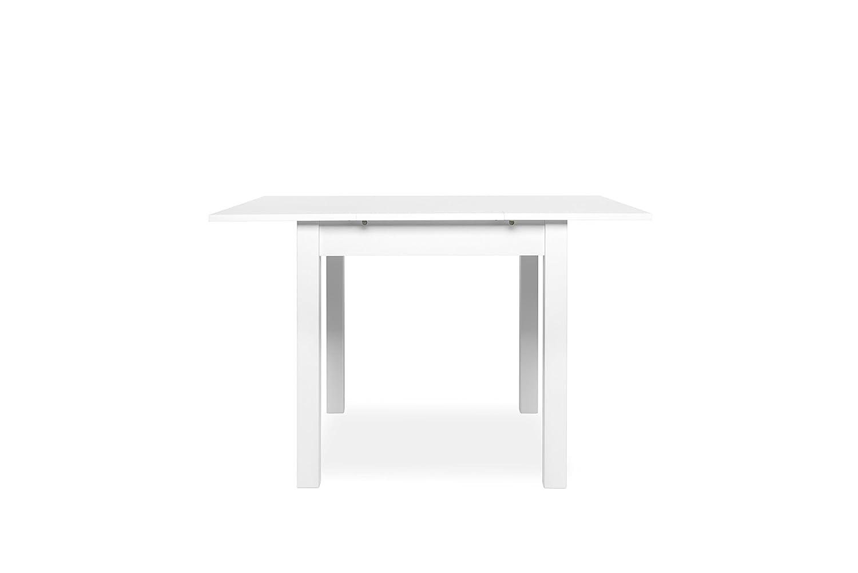 13Casa Dim: 80x80x76,5 h cm Col: Bianco Como D8 Tavolo allungabile Mat: Nobilitato.