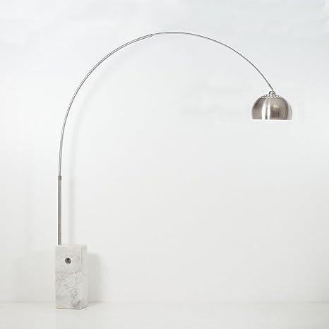 Lampada arco bianco (stelo rotondo): Amazon.it: Casa e cucina