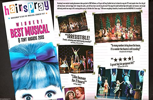 "Marissa Jaret Winokur ""HAIRSPRAY"" Matthew Morrison (""Glee"") 2003 Broadway Flyer"