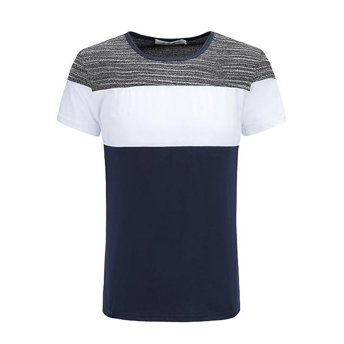 VENMO Camisetas Hombre Camisetas Hombre, Originales, Camisas Hombre, Casual Camiseta de Manga Corta de O culleo Hombre, Tops Hombre, Blusa Hombre: ...