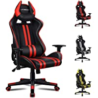 ALFORDSON Gaming Chair Racing Chair Executive Sport Office Chair with 4D Armrest and U-Shape Headrest PU Leather Home…
