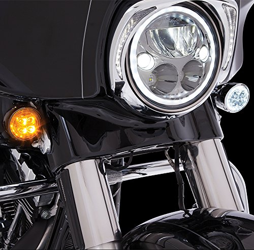 - Fang Front LED Signal Light Inserts (Chrome)