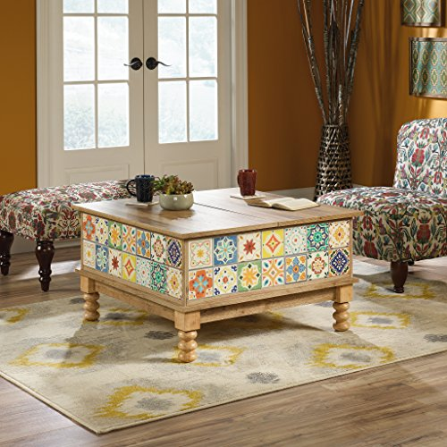Sauder Viabella Lift-Top Coffee Table, Antigua Chestnut Finish (Colorful Tables Coffee)