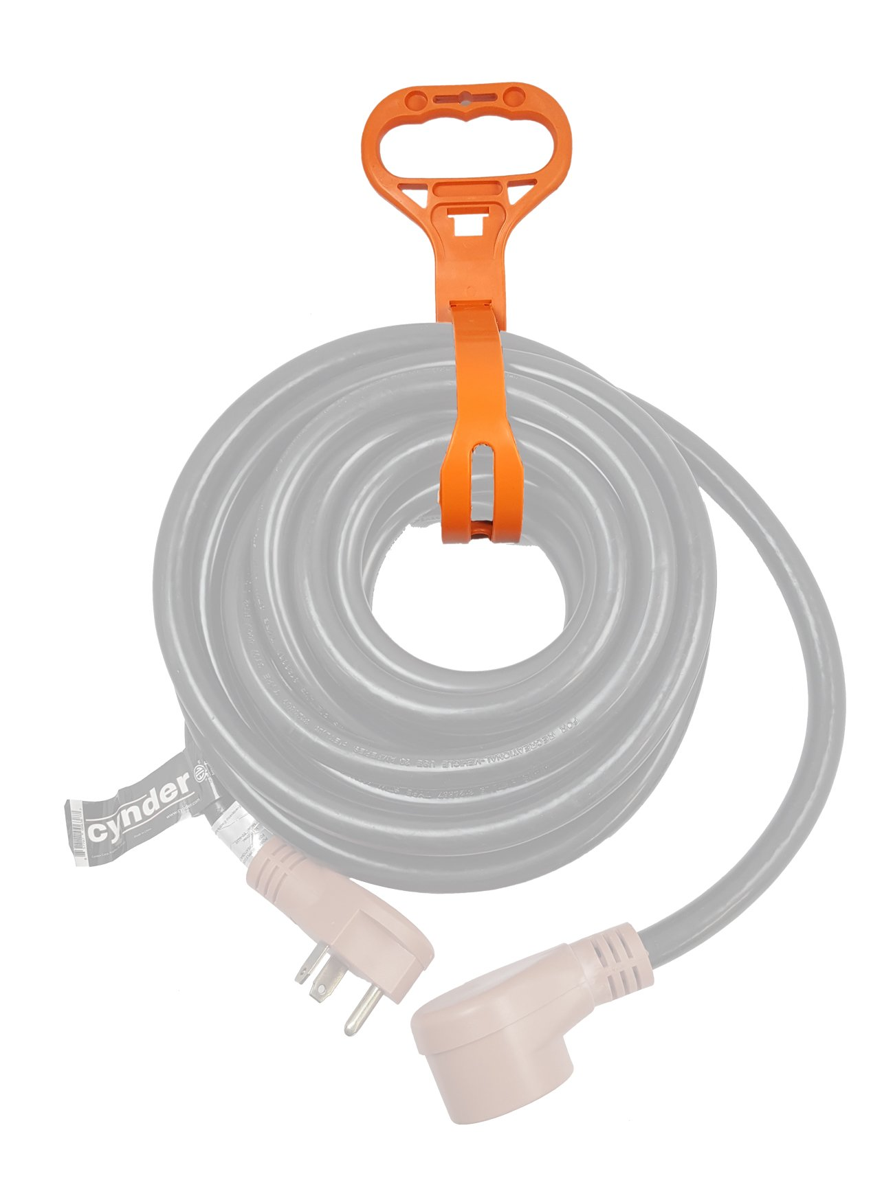Cynder 02019 Extension Cord Water Hose Organizer Storage Strap Orange