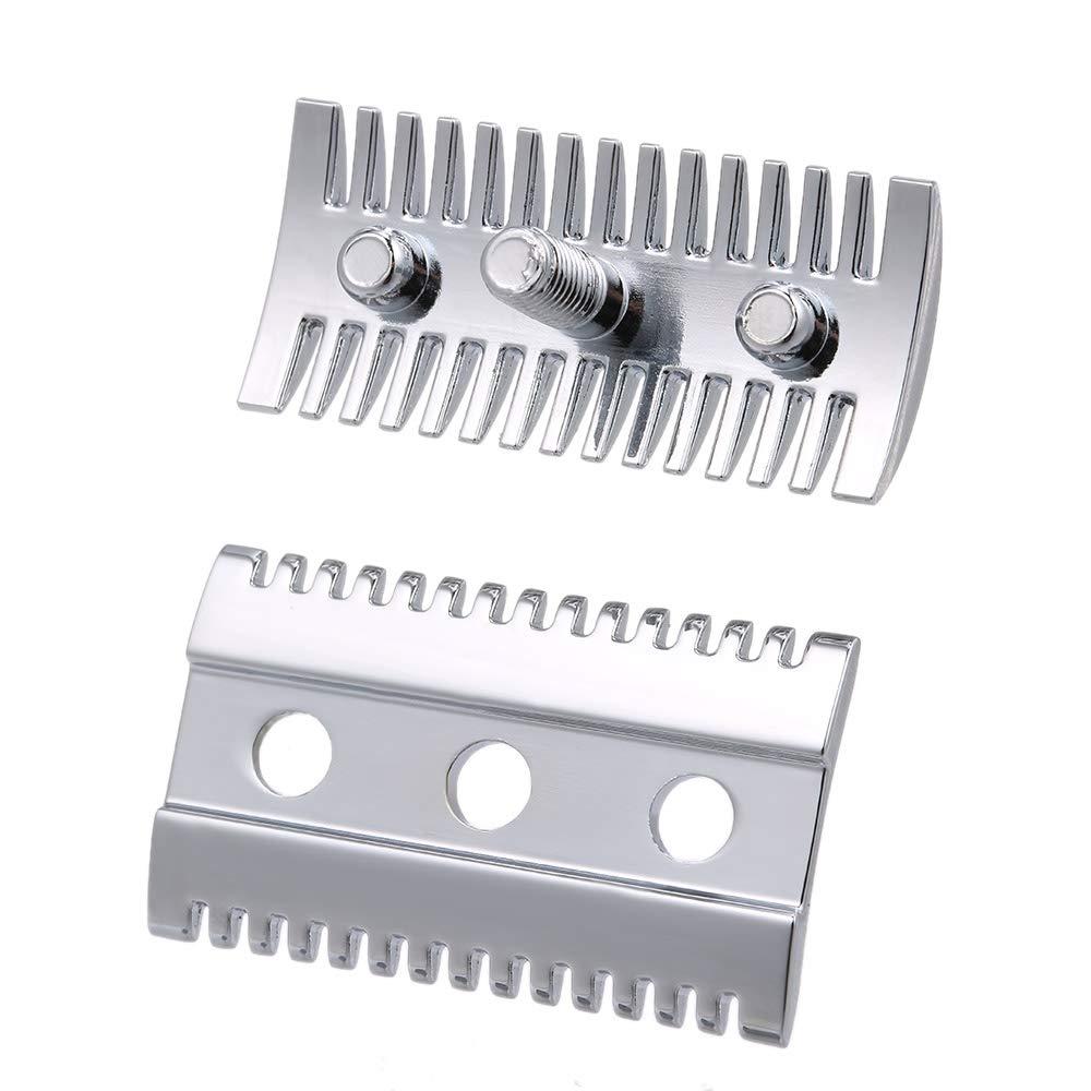 Anself Double Edge Shaving Safety Razor Open Comb Head Male Safety Razor Head Shaving Tool Barber Home Use