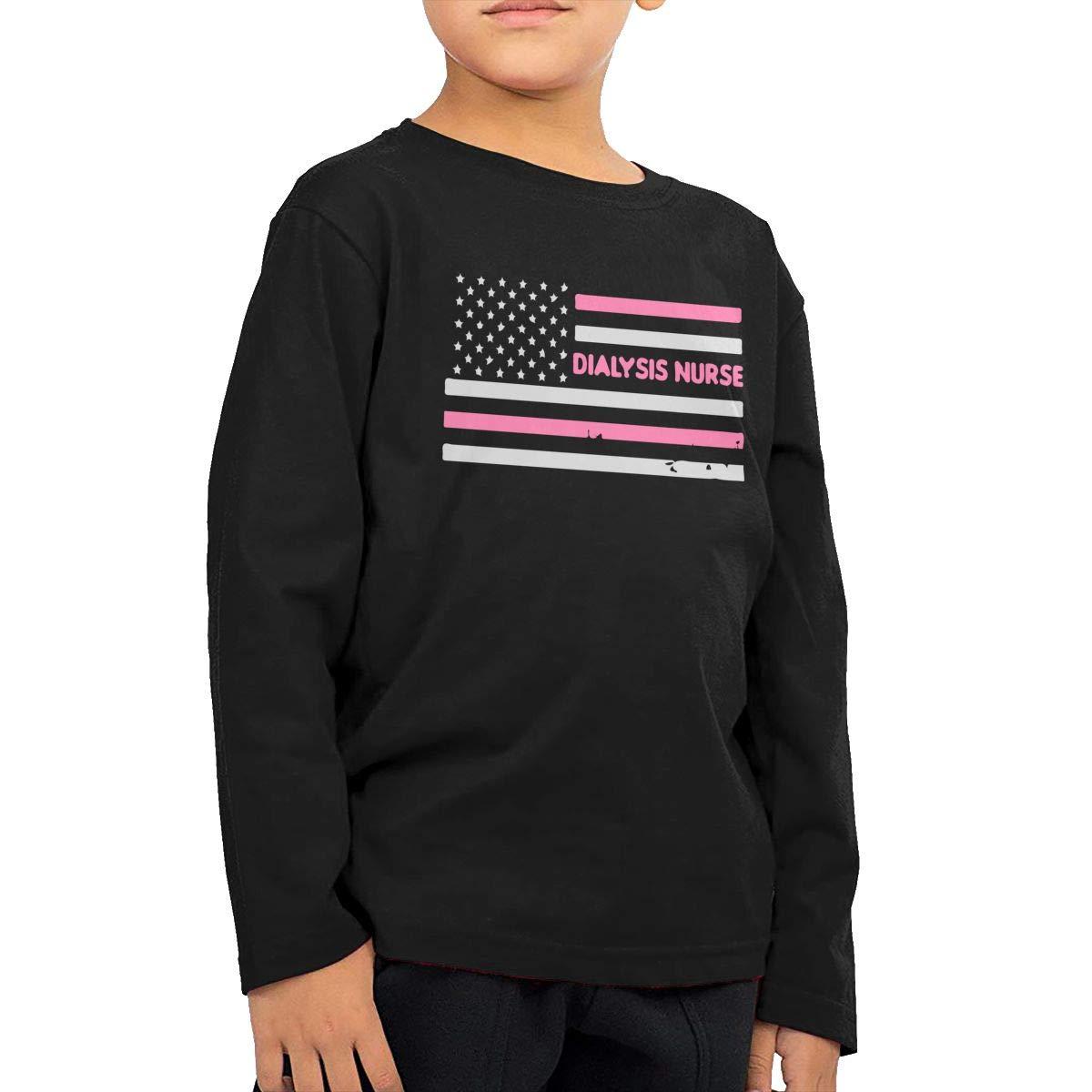 Dialysis Nurse American Flag1 Novelty Toddler Children Baby Boys Girls Long Sleeve Shirt Tops