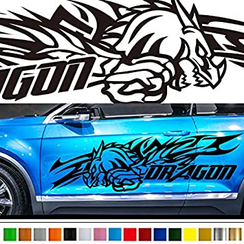 Amazoncom Dragon Car Sticker Car Vinyl Side Graphics Car - Custom stickers and decals