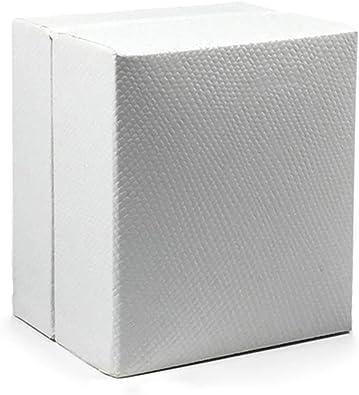 ROMQUEEN Caja de Anillo/Caja de Pendientes Caja de Carton para Regalo Regalo Ideal para Los Cumpleaños Y Navidad,Anillo Caja/Pendientes Caja-Blanco(5.2 * 4.6): Amazon.es: Joyería