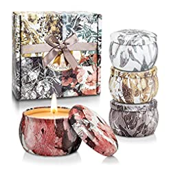 YINUO LIGHT Scented Candles Gifts Set fo...