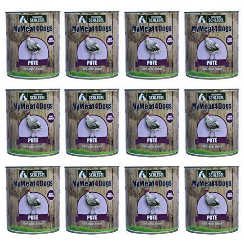 12x 820 g MyMeat4Dogs Dog Food Reinfleischdose Turkey 12x 820 g