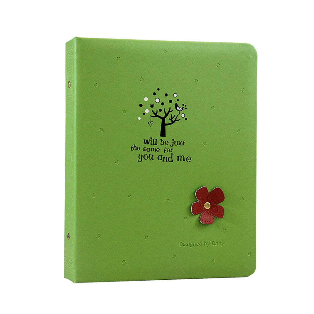 SESO UK- Retro Fotoalbum, PU Jubiläumsalbum, Hochzeitsalbum, Memo Memo Memo Album, Für 200 Fotos ( Farbe   Grün , größe   26.2x21.2x5.6cm ) 4df0d8