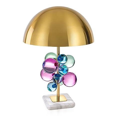 Joeyhome Moderna lámpara de mesa de mármol multicolor y ...