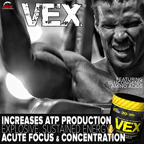 Alpha Pro Nutrition VEX Pre Workout Powder, Explosive Energy with Acute Focus & ATP Generators, Fruits of Paradise, 30 Servings