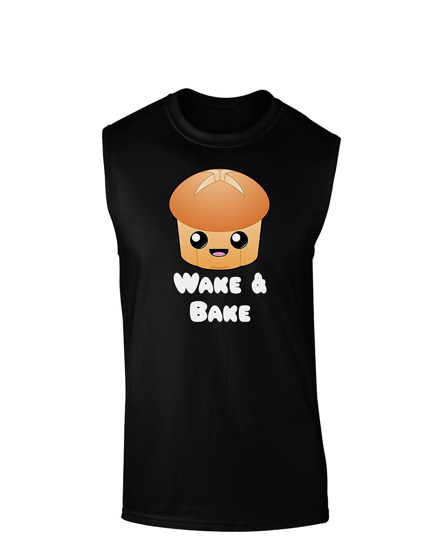 TooLoud Wake and Bake Cute Roll Dark Muscle Shirt