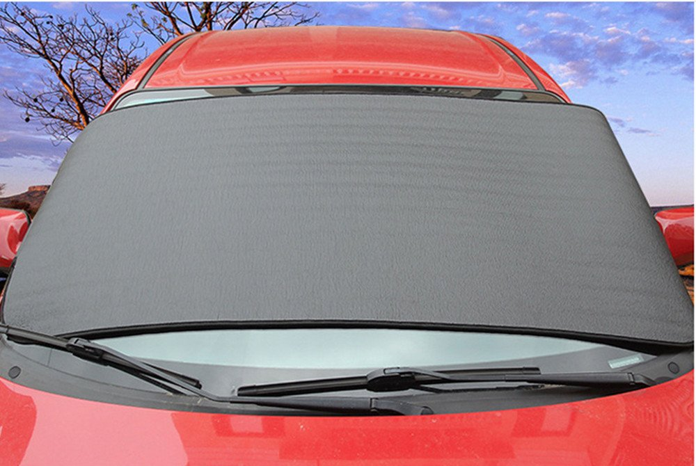 Car Truck SUV Windshield Snow Cover Front Window Cover Snow Ice Protector Sun Shield Fit Summer & Winter Weather LevenLi