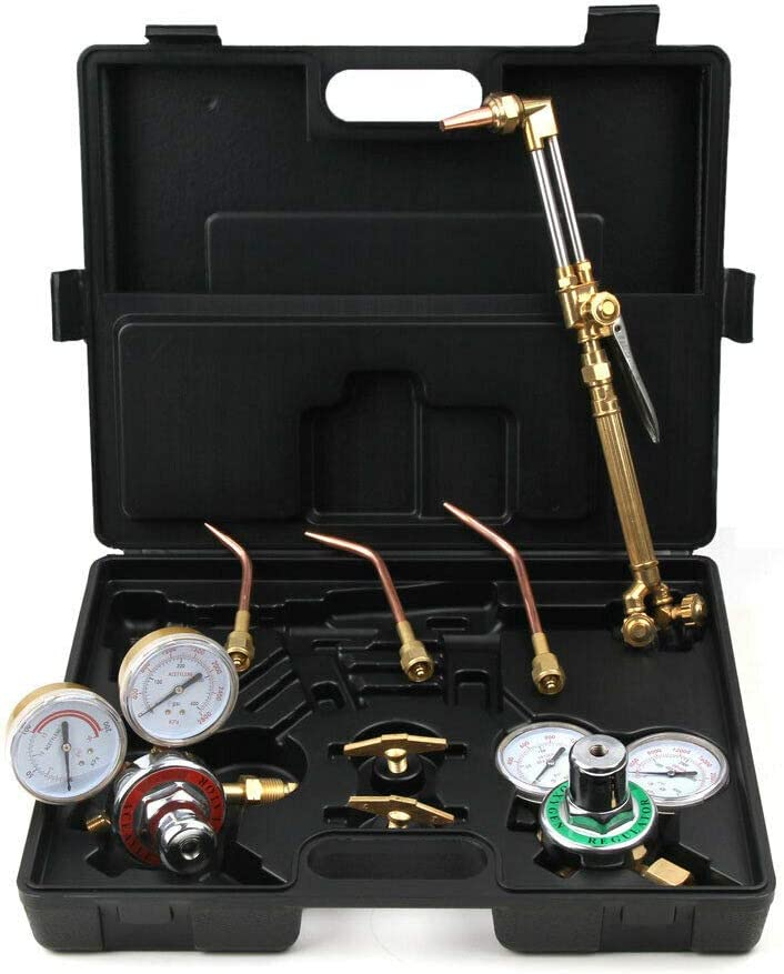 Cypress Shop Welding Cutting Professional Kit Gas Welding Cutting Welder Torch Outfit Oxytocin/'s Acetylene Oxygen With Hose and Case Reliable Performance Power Hand Tool Gauging Cutting Equipments