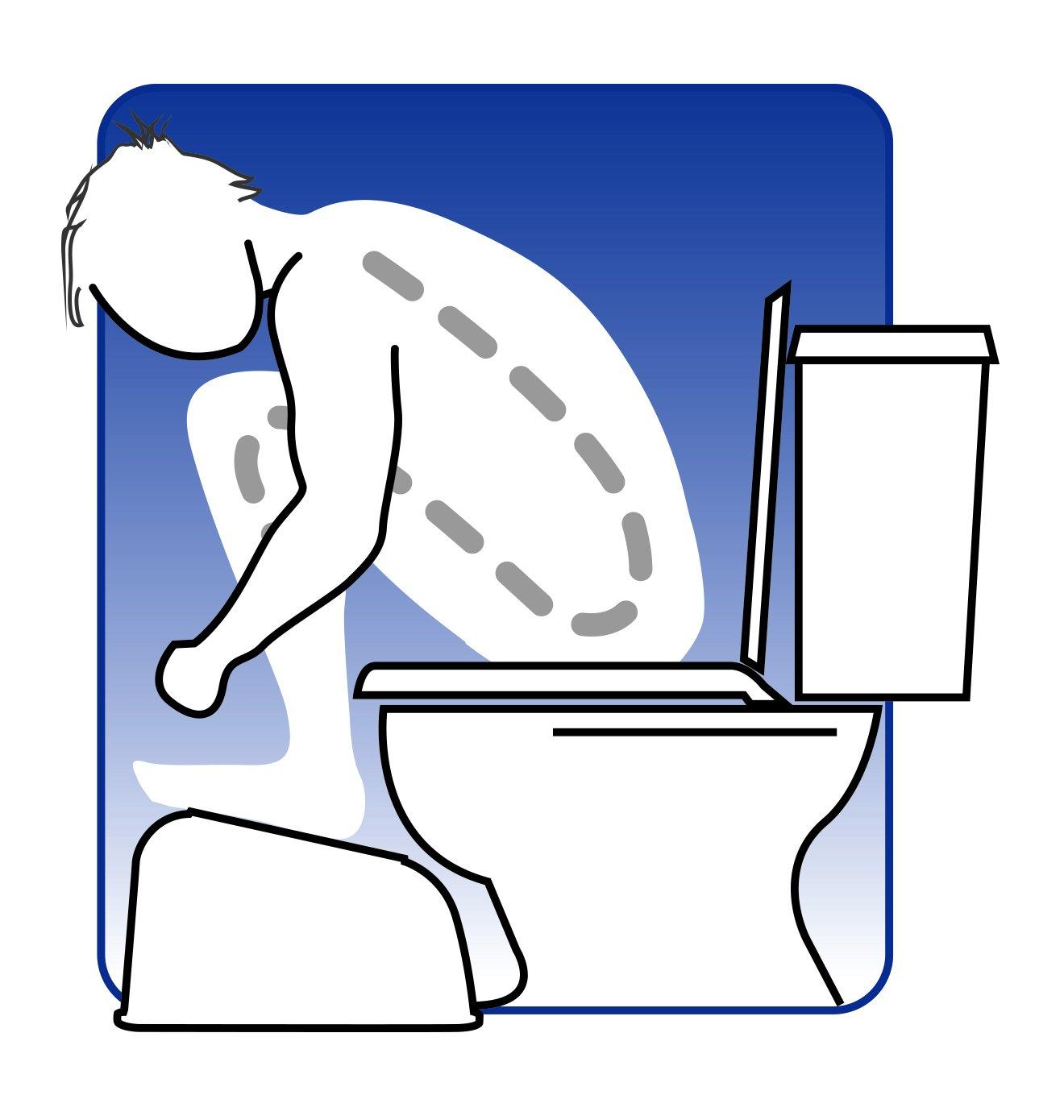 BodyHealt Squatting Bathroom Toilet Stool Footrest - 7.75 Inch Height