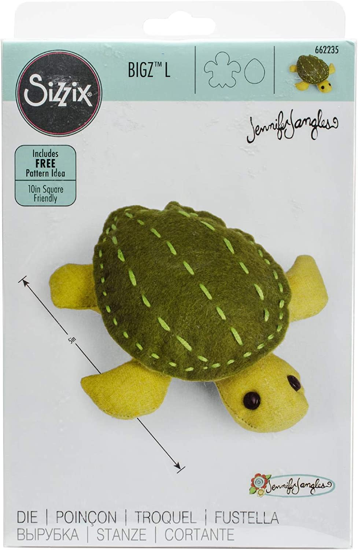 Sizzix Bigz Dies Fabi Edition-L Die Turtle By Jennifer Jangles