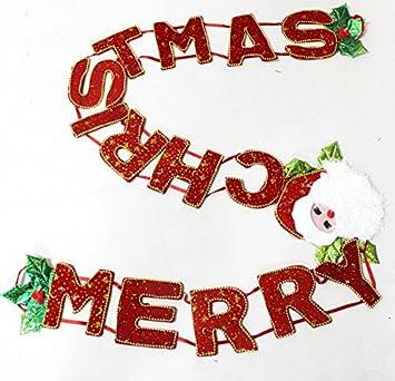 Frohe Weihnachten Englisch.Merry Christmas Frohe Weihnachten Banner Weihnachtsschmuck Englisch