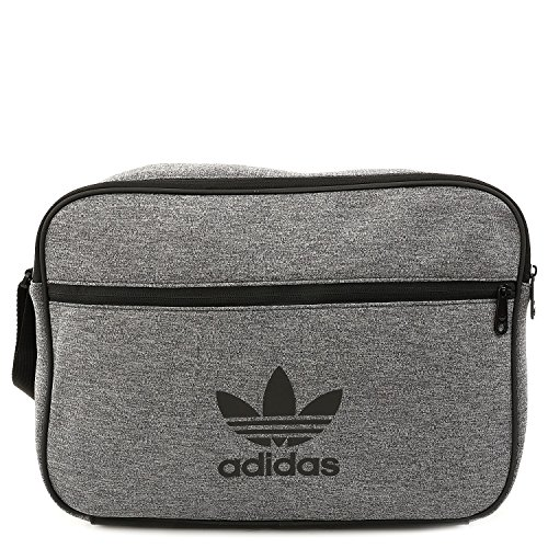 adidas Originals Mens Jersey Airliner Bag Grey Heather Indigo d618d69e12