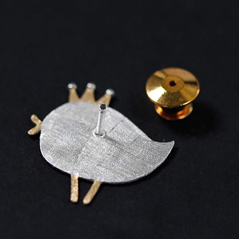 Lotus Fun S925 Sterling Silber Broschen Vielseitige Vogel-Dressup-Show Broschen Nat/ürliche Handgemachter Einzigartiger Schmuck f/ür Frauen und M/ädchen