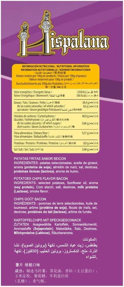 Pack 12 unds patatas fritas artesanas sabor bacon, elaboradas ...