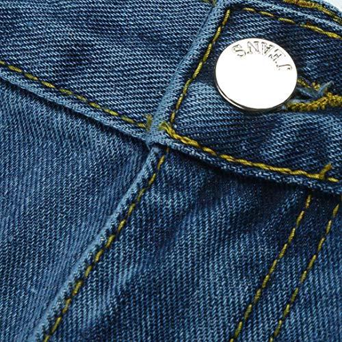 Irrgulier Denim Bleu Haute Mini Jeans Sixcup Jupe Genou Taille Femmes Dessus Jupes Au Sexy Filles Longueur FZtAqqUwxE