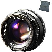 7artisans 35mm F1.2 Aluminum Lens Large Aperture Prime APS-C for Sony E Mount Mirrorless Cameras A6500 A6300 A6100 A6000 A5100 A5000 A9 NEX 3 NEX 3N NEX 5 NEX 5T NEX 5R NEX 6 7