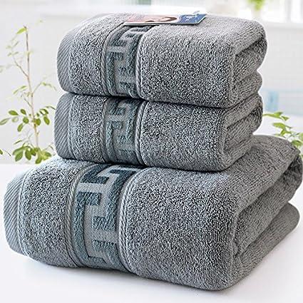 ZHFC Satinado engrosamiento toalla toalla toalla traje puro algodón adulto hombre mujer familia toalla de baño