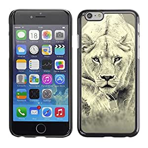 Cubierta de la caja de protección la piel dura para el APPLE IPHONE 6PLUS (5.7) - Fierce Lion Big Cat Tiger